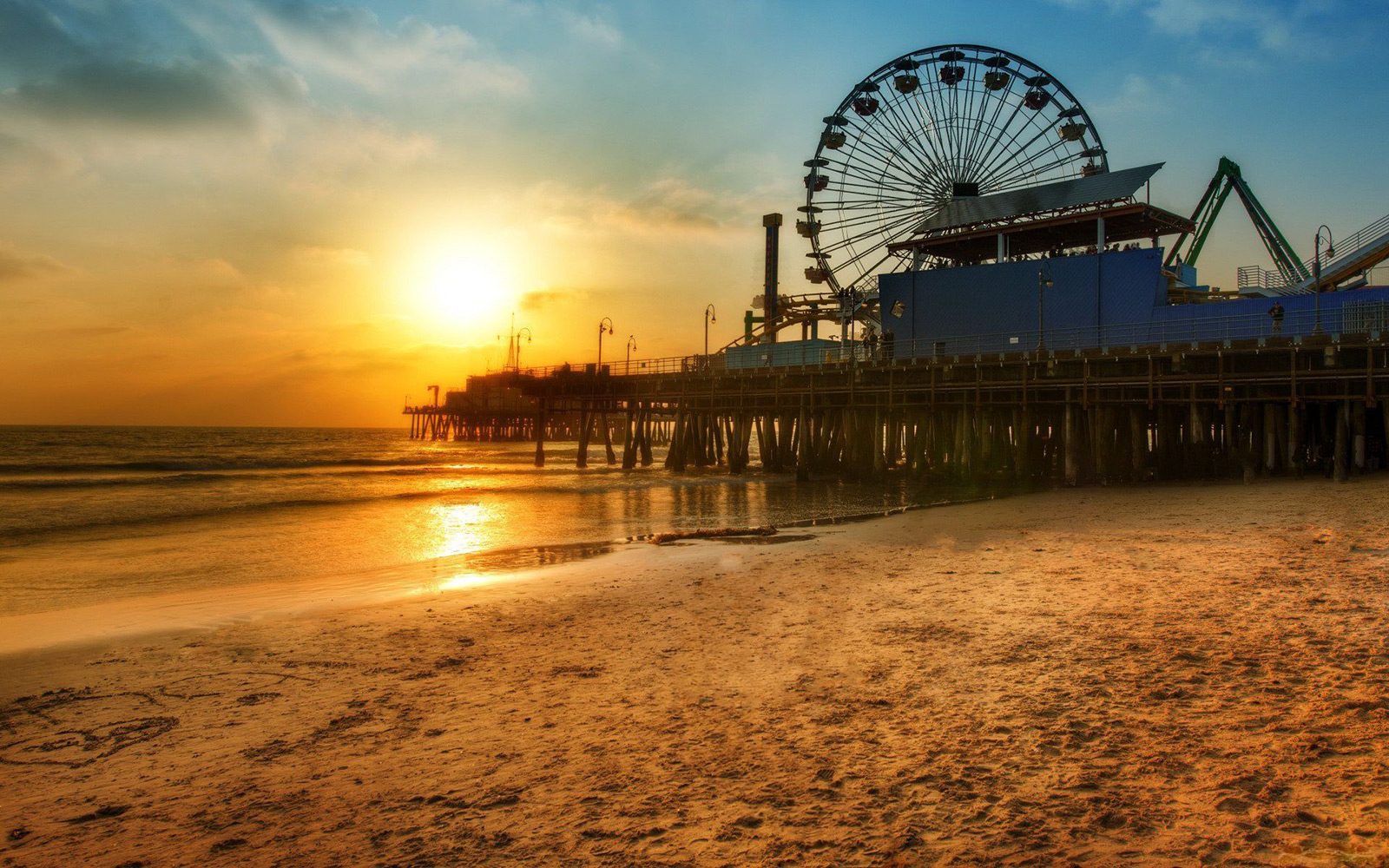 beach-dock-wheel-ferris-sunset-santa-monica-los-angeles