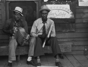 Jazz-blues music players Louisiana 1938